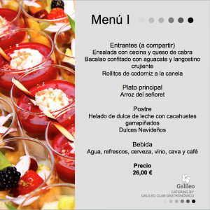 Menu catering valencia 1