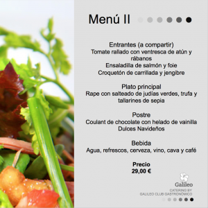 Menu catering valencia 2